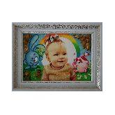 Детский портрет и смешарики из янтаря