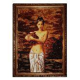 Девушка с кувшином Сюе Динь Тин репродукция из янтаря