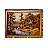 Дом в лесу картина с янтаря