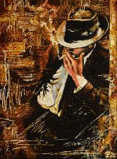 Картина из янтаря Дон Капоне