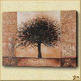 Сухое ветвистое дерево, картина, Модерн пейзаж №10