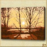 Закат, картина, Модерн пейзаж №14