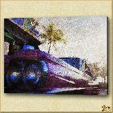 Фара автомобиля, картина, Модерн пейзаж №20