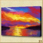 Закат солнца, картина, Модерн пейзаж №22
