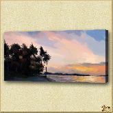 Экзотический берег, картина, Модерн пейзаж №23