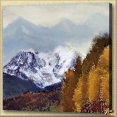 Снежная гора, картина, Модерн пейзаж №24