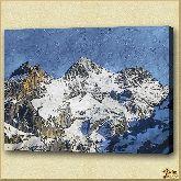 Вершины снежных гор, картина, Модерн пейзаж №25