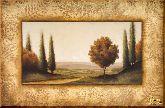 Деревья у дороги, картина, Модерн пейзаж №32