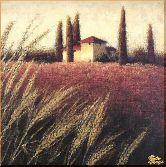 Пшеница у дома, картина, Модерн пейзаж №33