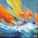 Парусник на волнах, картина, Модерн пейзаж №34