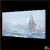 Парусник на воде, картина, Модерн пейзаж №43