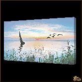 Парусник и горизонт, картина, Модерн пейзаж №44