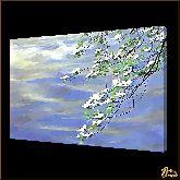 Ветвь с цветами, картина, Модерн пейзаж №51