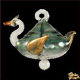 Ёлочное украшение из Египта Swan зелёный
