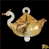 Ёлочное украшение из Египта Swan золотой