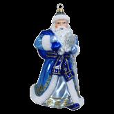Ёлочная игрушка из Польши Дед Мороз синий