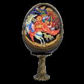 Пасхальное яйцо деревянное Битва