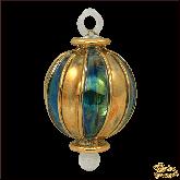 Ёлочное украшение из Египта Stripes circle золото-зелёный