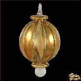 Ёлочное украшение из Египта Stripes circle золотой