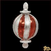 Ёлочное украшение из Египта Stripes circle серебряно-красный