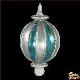 Ёлочное украшение из Египта Stripes circle серебряно-зелёный