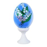 Пасхальное яйцо куриное на подставке Весна