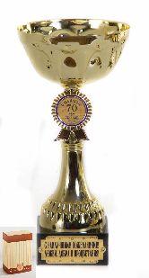 Кубок подарочный Чаша с эмблемой С юбилеем 70 лет