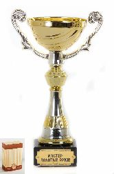 Кубок подарочный Чаша золотая с серебр.рельефными ручками Мастер золотые руки