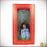 Ёлочная игрушка из стекла Храм.