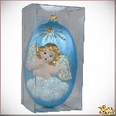 Ёлочная игрушка из стекла  Ангелочек