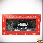 Ёлочная игрушка из стекла Машинка (чёрная).
