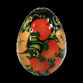Пасхальное яйцо деревянное с ручной росписью Хохлома. Яблоки