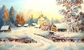 """Картина на холсте """"Перед Рождеством"""""""