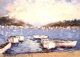 """Картина на холсте """"Лодки в море"""""""