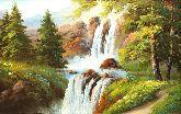 """Картина на холсте """"Лесной водопад"""""""