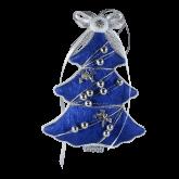 Дизайнерская игрушка Синяя ёлочка