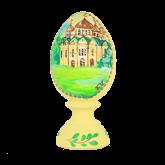 Пасхальное яйцо деревянное с ручной росписью Храм 2