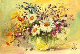 """Картина на холсте """"Букет полевых цветов"""""""