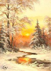 "Картина на холсте ""Дивный зимний закат"""