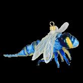 Ёлочная игрушка из Польши Голубая стрекоза