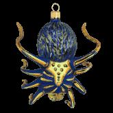 Ёлочная игрушка из Польши Паук желто-голубой