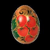 Пасхальное яйцо деревянное с ручной росписью Земляника