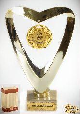 Кубок подарочный Сердце 50 лет в счастье, любви и согласии
