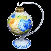 Ёлочный шар ручной работы на подставке Ароматный букет