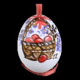 Пасхальное яйцо куриное на ленте Пасхальная корзина