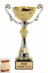 Кубок подарочный Чаша золотая с серебр.рельефными ручками Женщина руководитель года