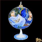 Ёлочный шар ручной работы на подставке  Времена года