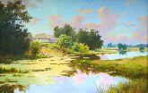 """Картина на холсте """"Летний пруд"""""""