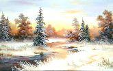 "Картина на холсте ""Морозное зимнее утро"""