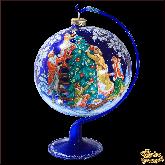 Ёлочный шар ручной работы на подставке Russian Ёлка в стиле палех